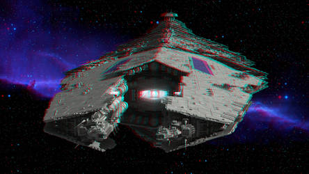 Spaceship by 3D-Stereoimage