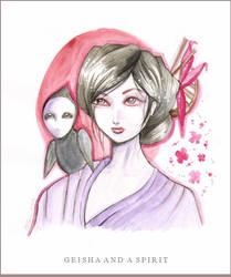 Geisha and a spirit encore by stolenwings