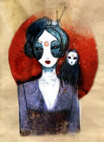 Geisha and a spirit by stolenwings
