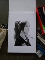 Realistic pencil drawing J.Fla by Madrizki