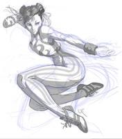 Chun-li sketch by JimboBox