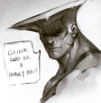 Guile says Go Home by JimboBox