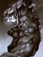 Raging Demon Sketch by JimboBox