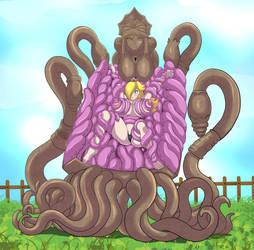 Rosalina tentacle peril by zetarok