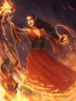 Fire Mage by nataliebernard