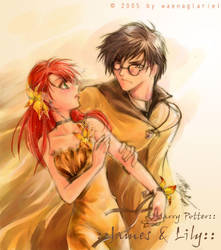 HP_ James+ Lily by Waenaglariel