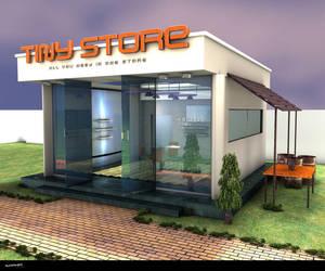 tiny store c4d by ibrahim-ksa