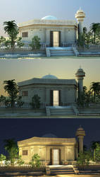 mosque by cinema 4D by ibrahim-ksa