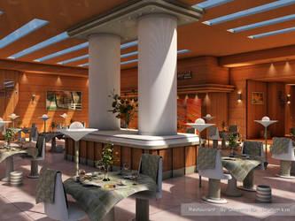 Restaurant by cinema 4D by ibrahim-ksa