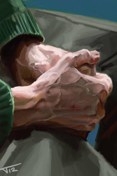 Elderly Hands (speedpaint) by HarlequiNQB