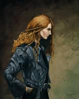Leather Jacket (speedpaint) by HarlequiNQB