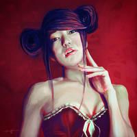 Keiko (Speedpaint Study) by HarlequiNQB