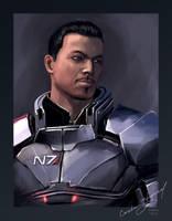 Commander Shepard by Sabrus