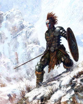 female viking by chrislazzer