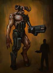 DOOM Fan Art: Cyber Demon by chrislazzer