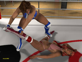 17   Tina Stretches Becky Out By Onek1995 by GreyGhost64