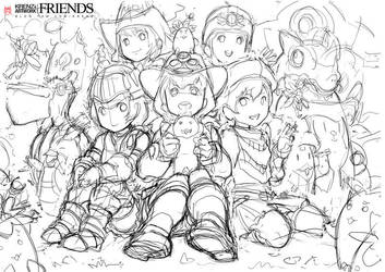 friends-sketch by Cushart