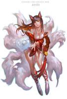 League Of Legends - Ahri by Cushart