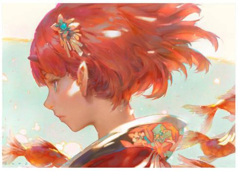 Goldfish by Cushart