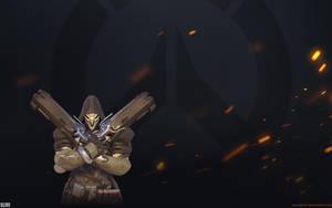 Overwatch Fire Wallpaper 1920x1200 - Reaper by Sirusdark