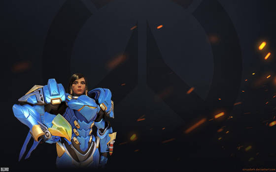 Overwatch Fire Wallpaper 1920x1200 - Pharah by Sirusdark