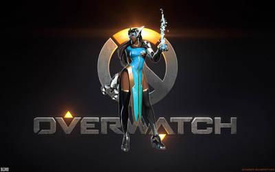 Overwatch Title Concept Art 1920x1200 - Symmetra by Sirusdark
