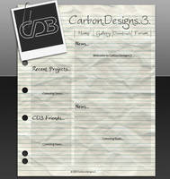 CD3 Paper Web Template by CarbonDesigns3