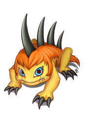 Digimon Fanart: Gizamon by patyhikari
