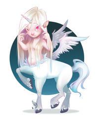 Uni-Pegasus-Centaur Girl by patyhikari