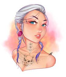 Tattoo Girl by patyhikari