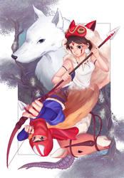Princess Mononoke by patyhikari