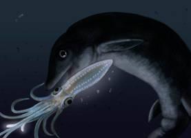 Deep-sea Ichthyosaur by Eurwentala