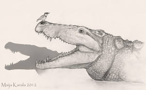 The Pleistocene Killer Crocodile by Eurwentala