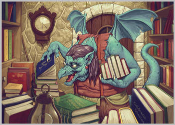 Dragon Book keeper by JamesCreations