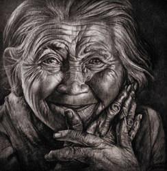 Old Lady Portrait by JamesCreations