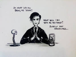 Tom Riddle working for Borgin and Burkes by Akatoph