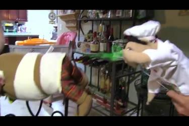 Shrek farts in Chef Pee Pee's face by ilovemixels