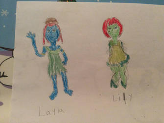My Drawing Of Layla and Lily by ilovemixels