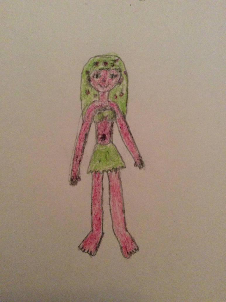 Lila as a fruit dryad (Raspberry version) by ilovemixels