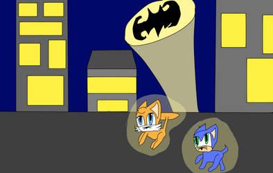 Sonic In Gotham City As Cats................ by misscleverkitten