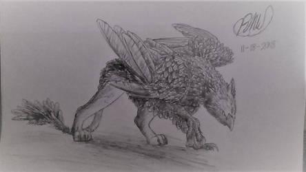 Griffin Sketch by MegaboltPhoenix