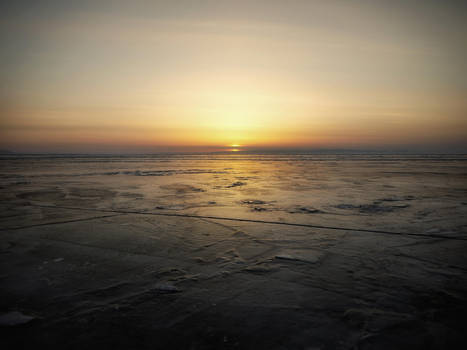 background - vast ice-desert - sunset by 8moments