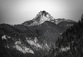 mountain - black and white by 8moments