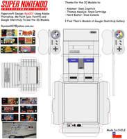Snes Papercraft set by ryo007