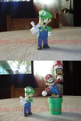 Luigi Papercraft by ryo007