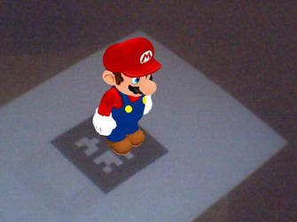 Mario in Augmented Reality by ryo007
