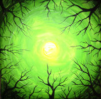 Light of the forest fluorescent painting by CORinAZONe