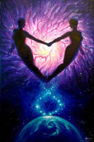 Euphoria or soulmates in the universe painting by CORinAZONe