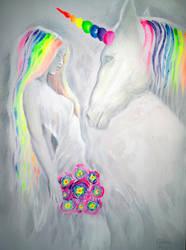 Princess and unicorn by CORinAZONe