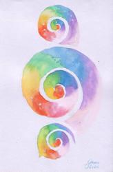Rainbow spyrals by CORinAZONe